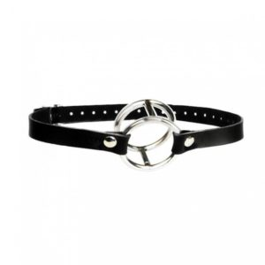 DOUBLE METAL RING GAG FOR HIM & HER-product ring gag-delhisextoystore