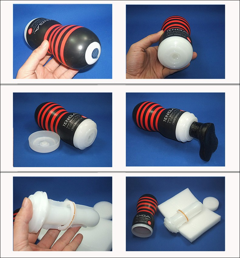 Different position of Strengthen Friction TENGA Deep Throat Oral Sex Flashlight-product of delhisextoystore