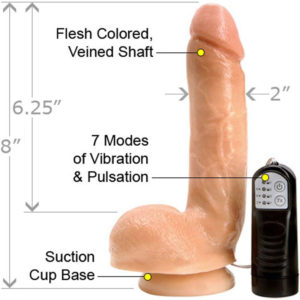 Real dual Layer Suction cup Dildo